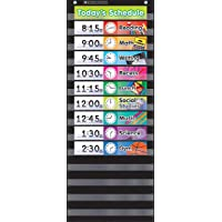 Daily Schedule - Black Pocket Chart