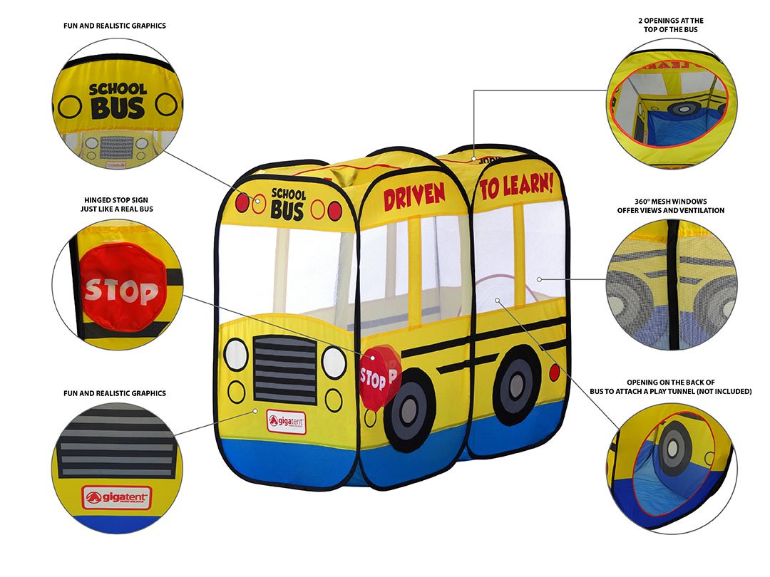 sc 1 st  Amazon.com & Amazon.com: Giga Tent My First School Bus Play Tent: Toys u0026 Games