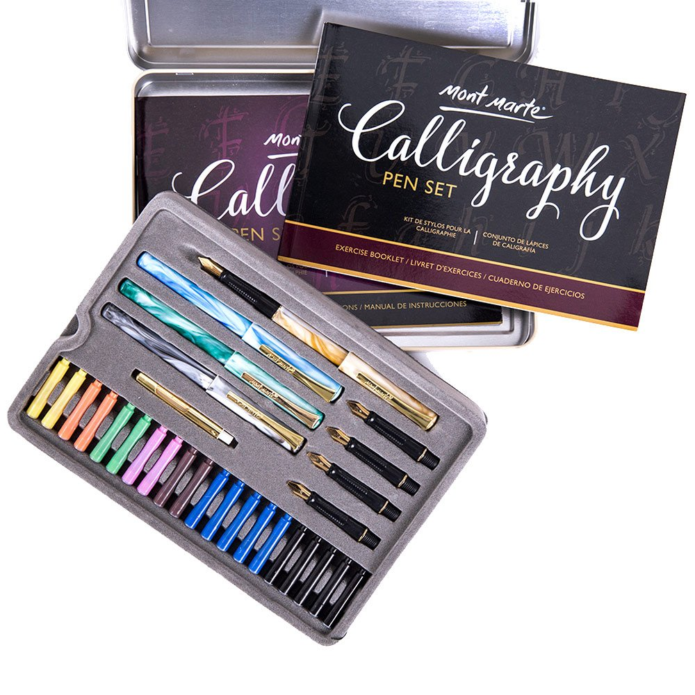 Calligraphy Pens Set by Mont Marte, Best Calligraphy Set for Beginners&Kids-33Pieces-2Pack, Includes Calligraphy Pens, Calligraphy Nibs, Ink Cartridges, and Exercise Workbook by Mont Marte (Image #5)
