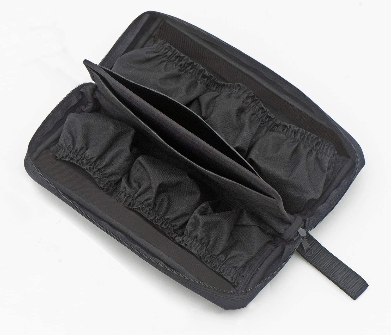 Bait Casting Reels Six Elastic Pockets Yooneek Soft-Sided Fishing Reel Case Excellent for Fly Fishing Reels or Extra Spools Weatherproof Neoprene Black