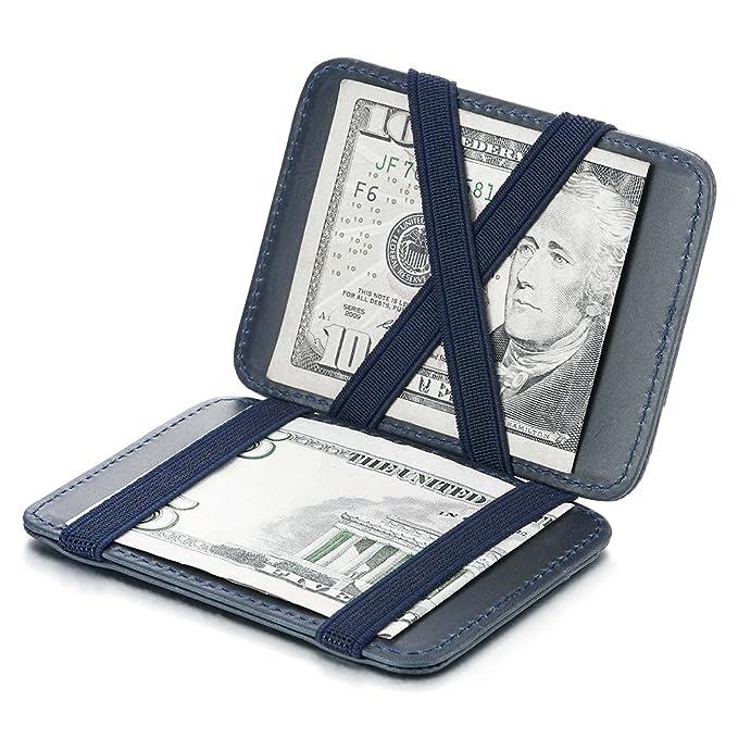 Amazon.com: A Doble Cara con tapa compacto Clip de dinero ...