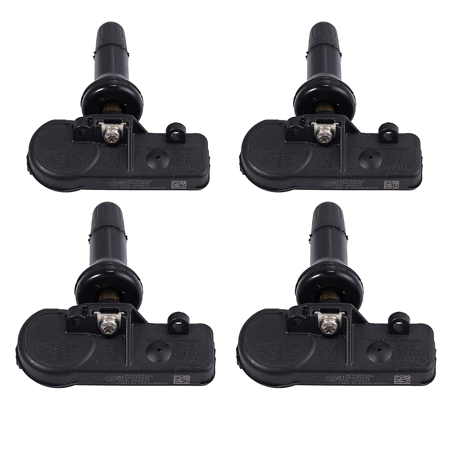 Justech 4pcs Tire Pressure Monitoring Sensor 315MHz Programmable TPMS for Chevrolet Chevy Cadillac Buick GMC Tire Internal Sensor Replace 25920615 13581558 13586335 15123145 15254101 15922396