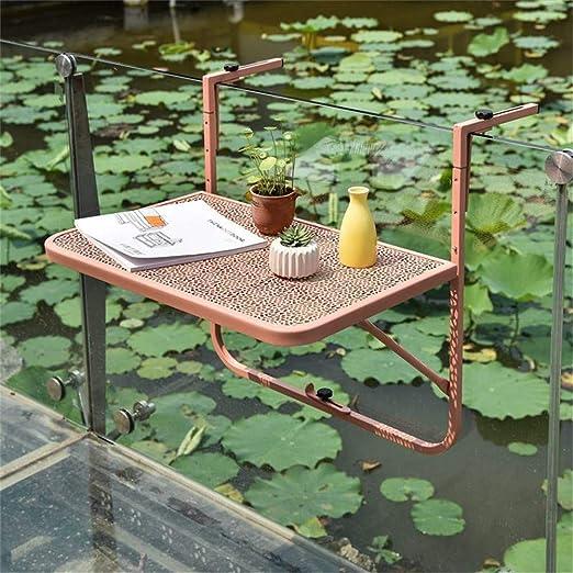 Balcón mesa de cubierta plegable, Altura ajustable Mesa colgante ...