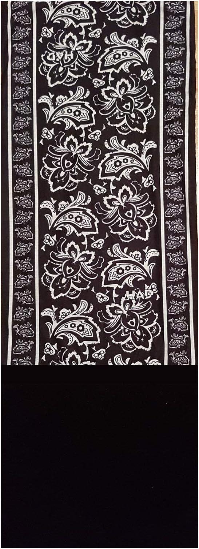 HAD Fleece Echarpe multifonctionnel avec laine polaire PAISLEY FLOWER BLACK//BLACK