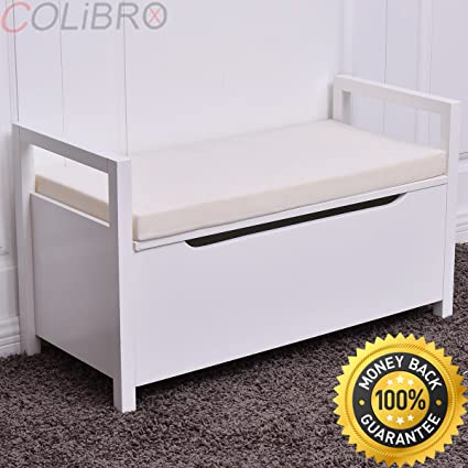 Delicieux COLIBROX  Shoe Bench Storage Rack Cushion Seat Ottoman Bedroom Hallway  Entryway White. Shoe