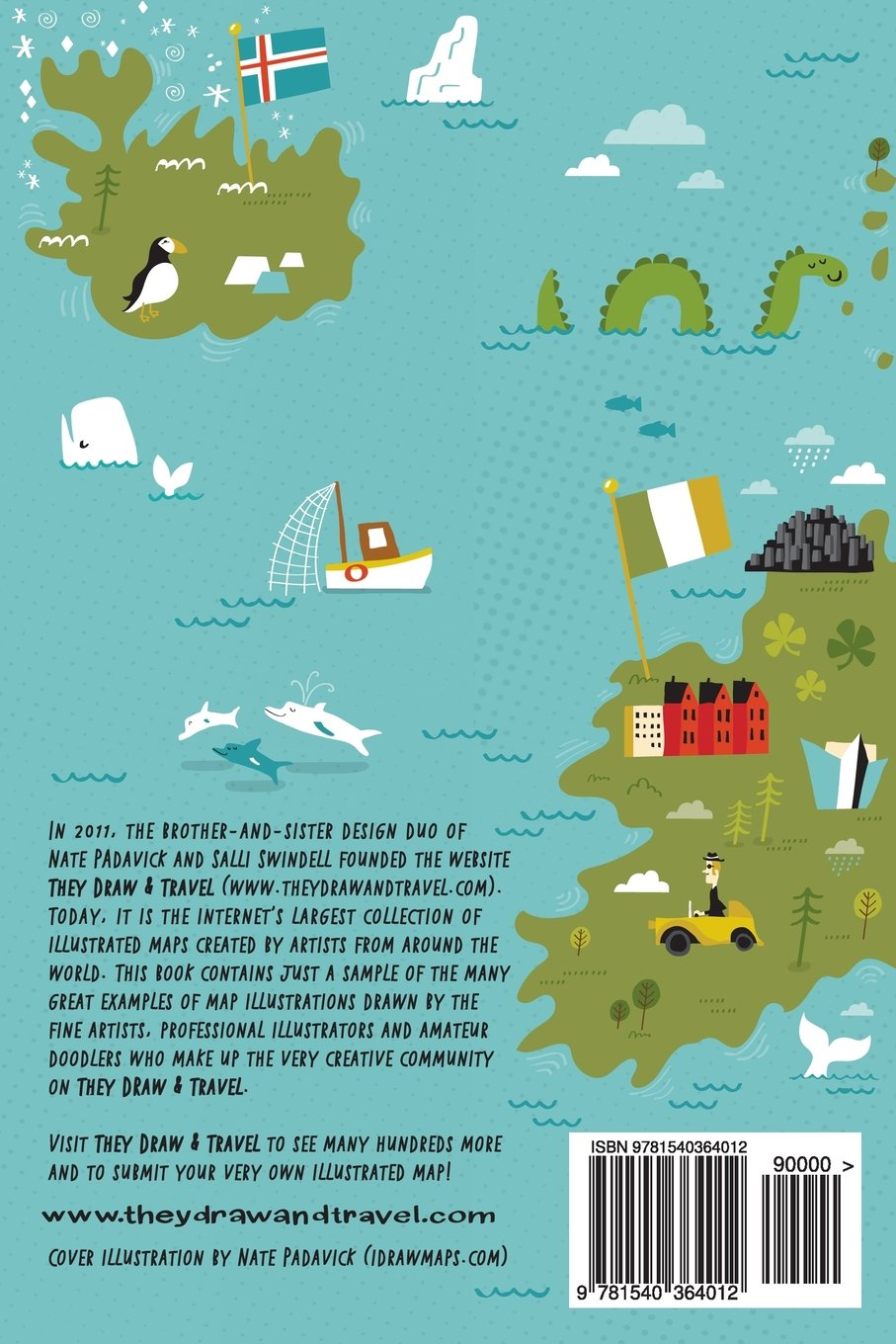 They Draw and Travel 96 Illustrated Maps of the UK and Iceland