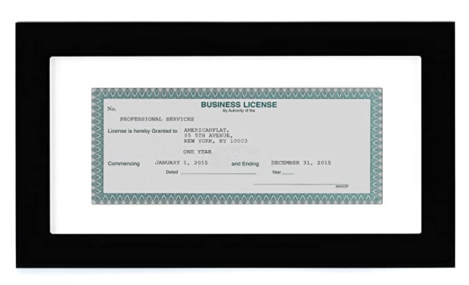 Amazon.com: Business License Frame - Made for Business Licenses ...