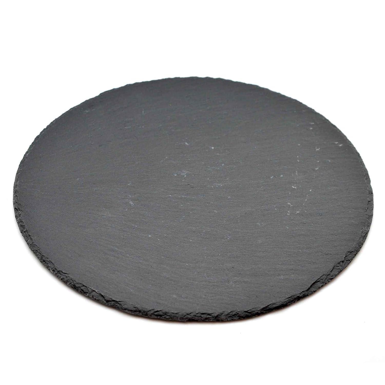 Natural Slate Round Food / Drinks Serving Platter Argon Tableware