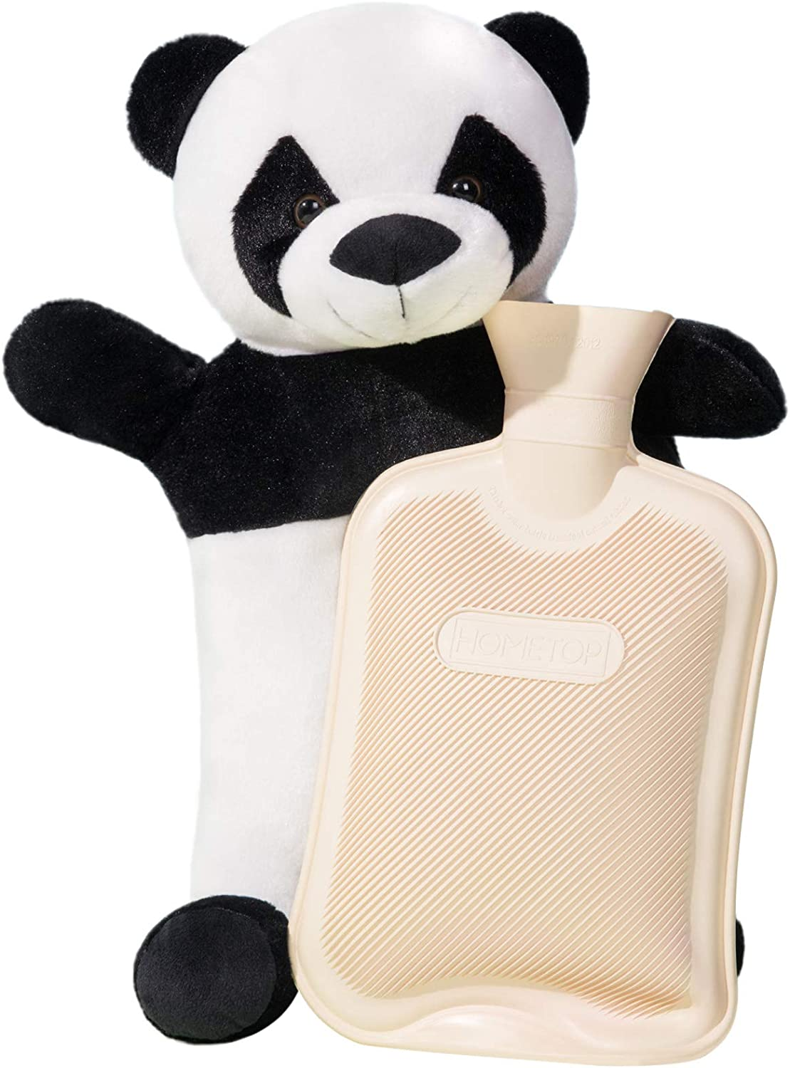 04 1000ML Classic Rubber Cold or Hot Water Bottle with Soft Plush Cute Panda Cover