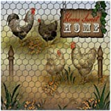 CafePress - Home Sweet Home Chickens And Roosters - Tile Coaster, Drink Coaster, Small Trivet