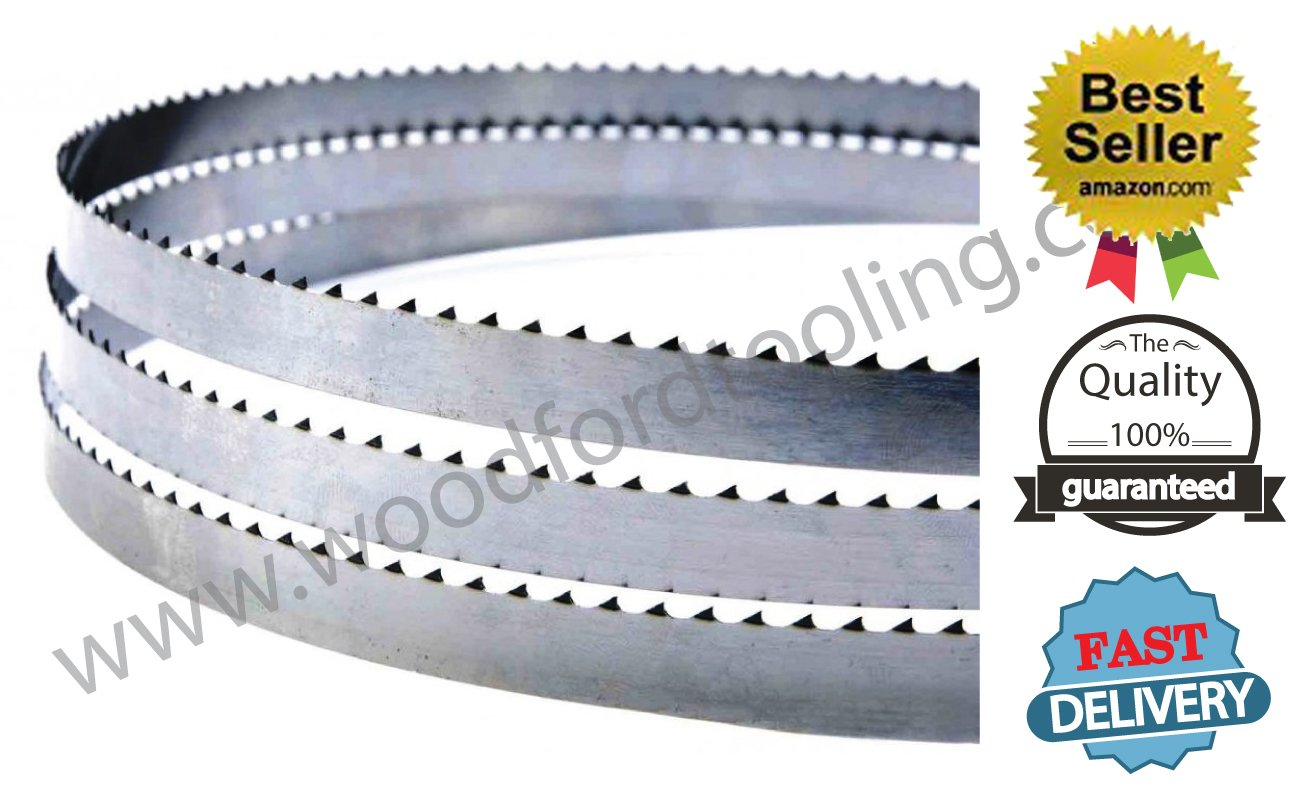 Replacement for POWERTEC 13182X carbon tool steel bandsaw blade 70-1/2''Long 1/4'' Width 10 TPI