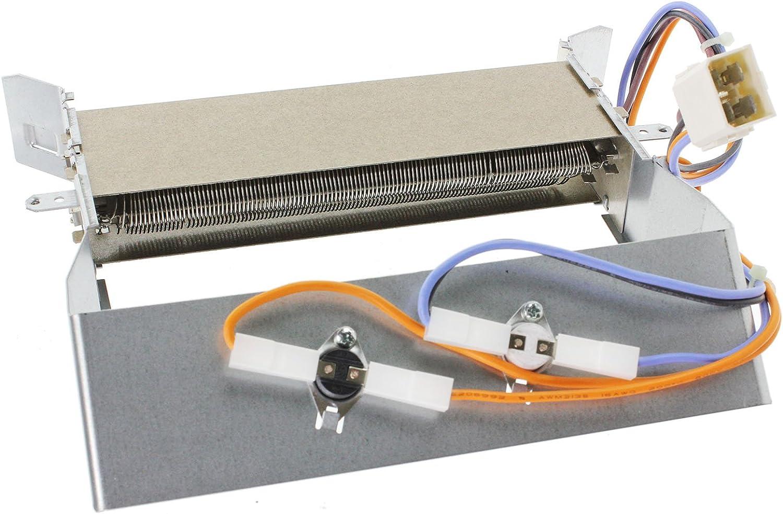 Spares2go la Resistencia de Calor + Termorreguladores de Hotpoint TCM570 TVM570G TVM570P TCM570G TCM570P TCM580 TCM580G TCM580P Secadora (2300W)