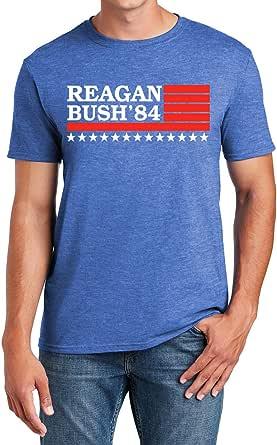 Reagan Bush '84, Presidential Campaign T-Shirt, Vintage Style Conservative Republican GOP T Shirt