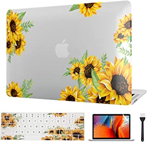 Laptop for MacBook Air 13 Inch Case 2020-2018, Sunflower Laptop Cover & Keyboard Cover & Screen Protector ONLY for 2018-2020 Mac Air 13 Retina & Touch ID A2337 M1/A2179/A1932 Model, Flower 1