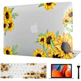 Laptop for MacBook 11 Inch Case 2012-2015, Sunflower Laptop Case Plastic Hard Shell Case & Keyboard Skin Cover & Screen Prote