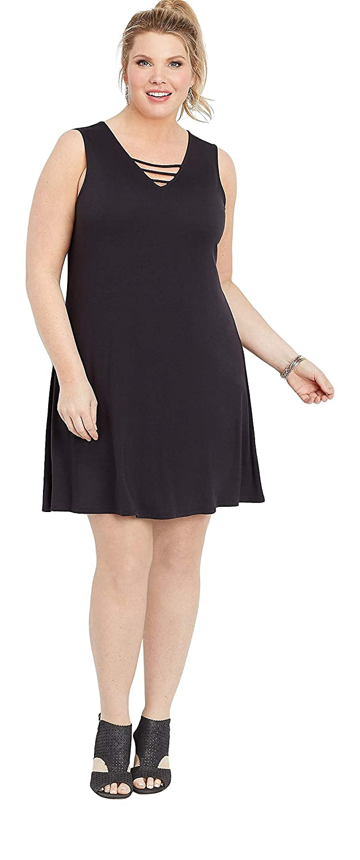 maurices Lattice Neck Swing Dress - Plus Size 24/7 ...