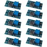 FULARR 10Pcs Premium MT3608 DC to DC Boost Converter Module, 2~24V to 5~28V Step-Up Voltage Regulator, 2A Adjustable…