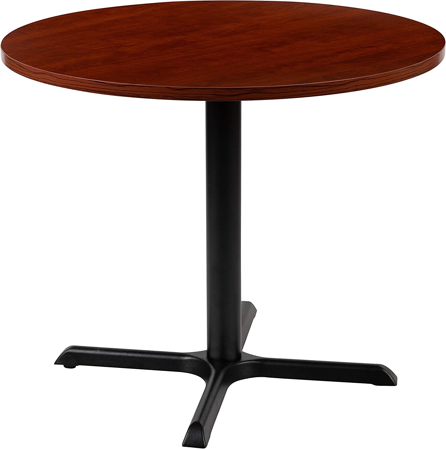 "Flash Furniture 36"" Round Multi-Purpose Conference Table in Cherry"