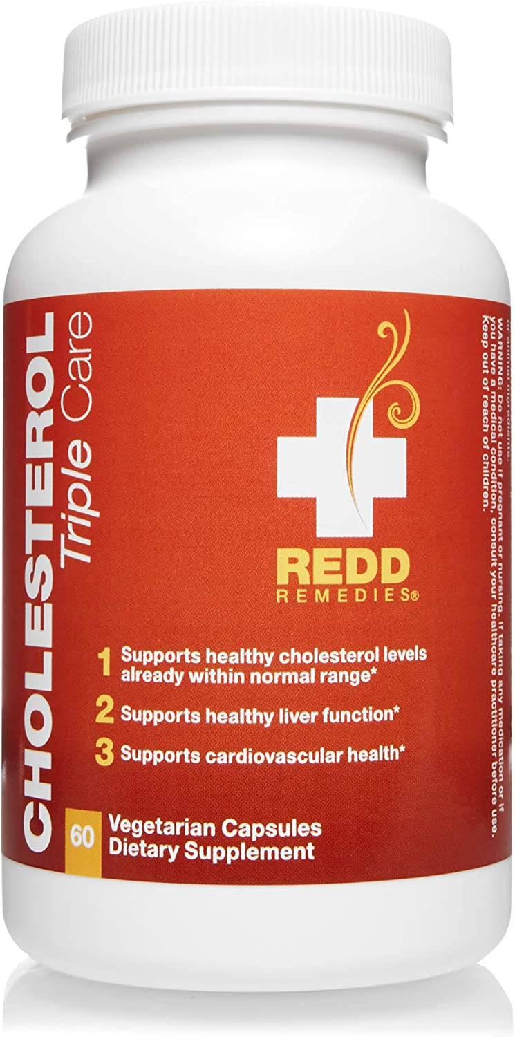 Redd Remedies - Cholesterol Triple Care, Supports Healthy Cholesterol Levels and Liver Function, 60 Count
