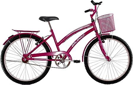 Bicicleta Aro 26 Feminina Susi Rosa Pink com Para-lama e Cesta - Dalannio Bike