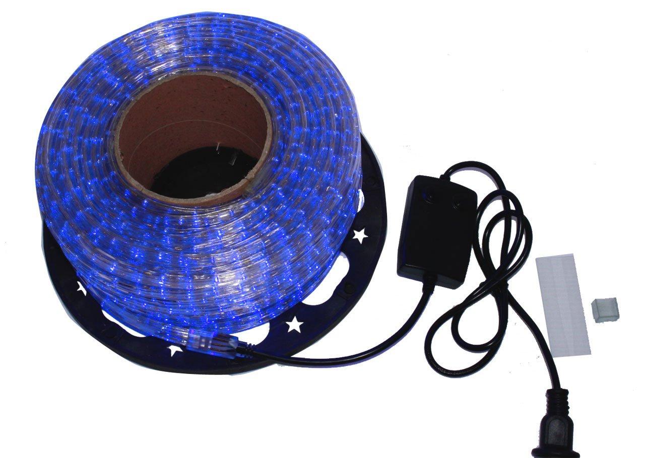 LED イルミネーション 3芯 角型 ロープ ライト 2500球 ( 50m ) ブルー 青 点灯 パターン 28 種類 コントローラー 付 PSE 取得品 防水 B01LW4MD9V 17280