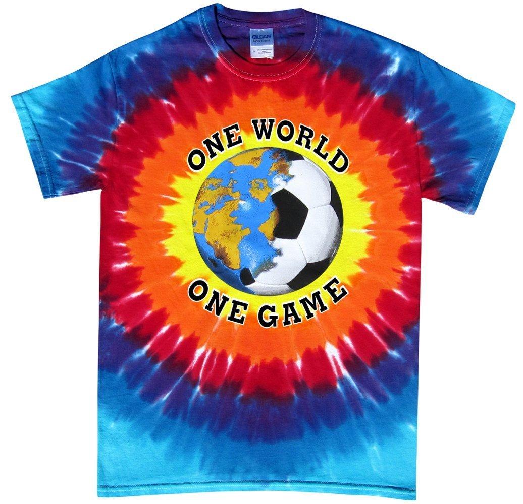 Soccer Tシャツ: One World Tie Dye (複数色) B075TFYTYD Adult Small|サンバースト サンバースト Adult Small
