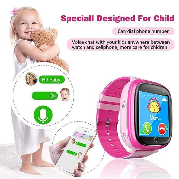 Amazon.com: Kids Waterproof Smart Watches Phone, SZBXD GPS Tracker Touchscreen Sports Smartwatch Games Flashlight SOS Alarm Clock Camera Smart Wrist Watch ...