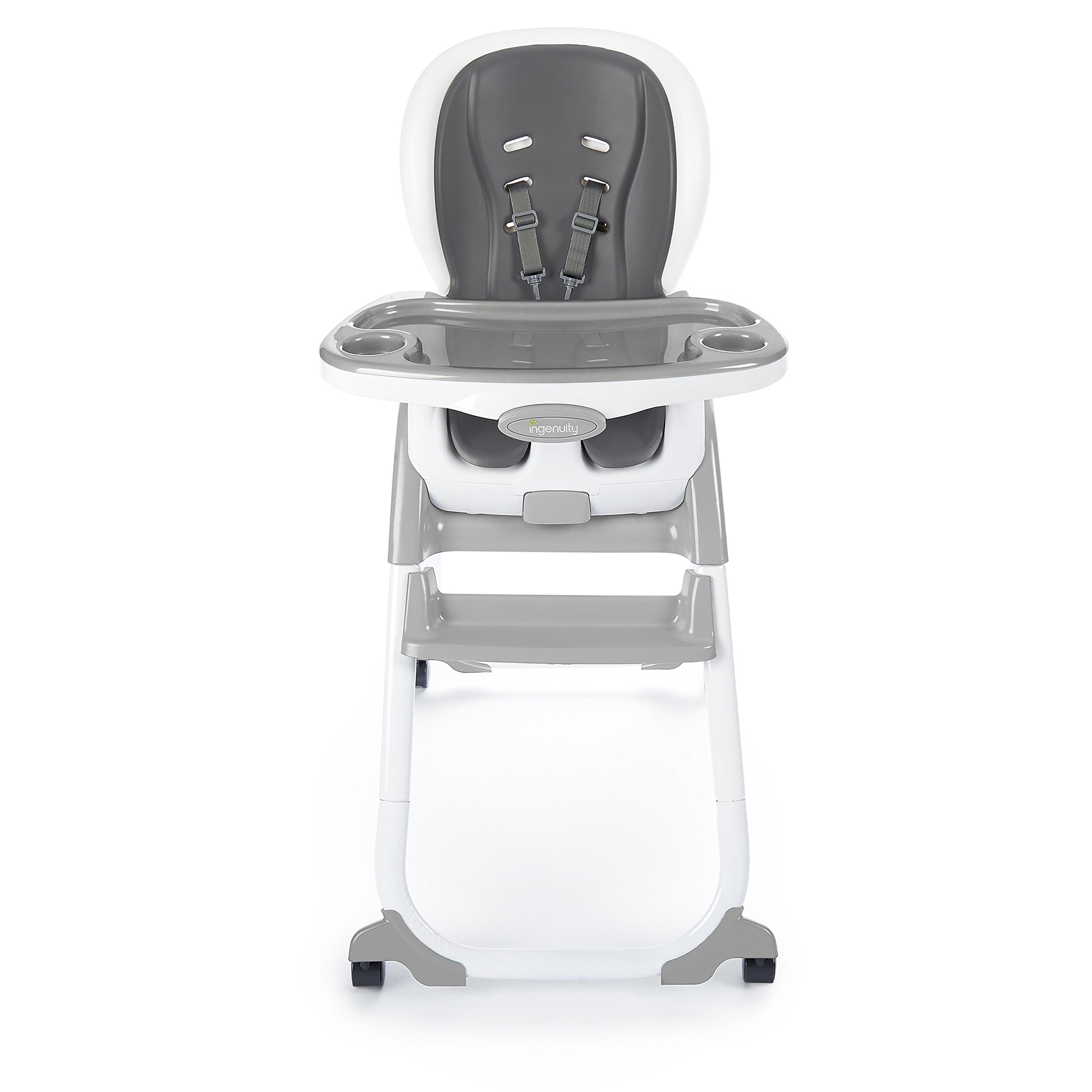 Ingenuity SmartClean Trio Elite 3-in-1 High Chair - Slate - High Chair, Toddler Chair, Booster by Ingenuity