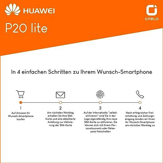 Otelo Sim Karte Aktivieren.Huawei P20 Lite 64gb Speicher Handy Mit Vertrag 8gb Amazon De