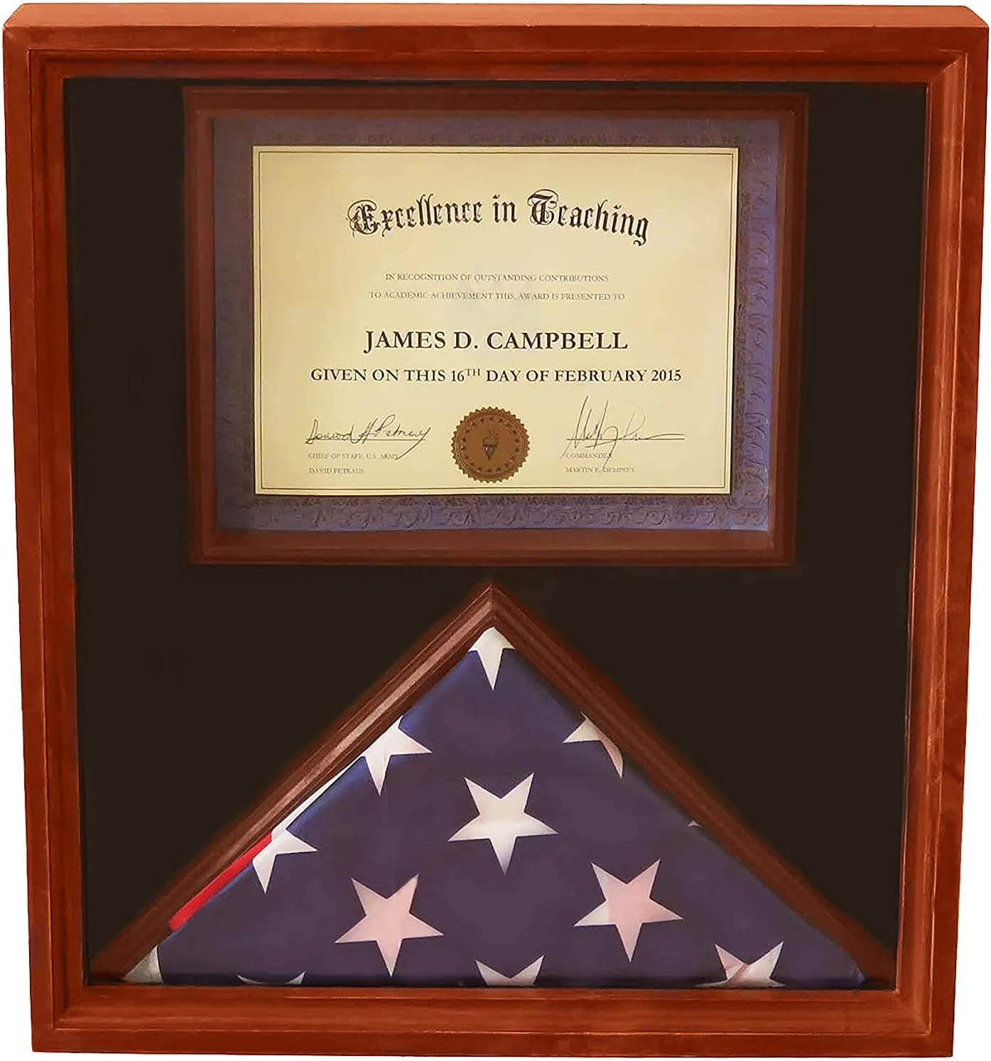 Coin and Coins 3x 5 Flag Case with Name Plate