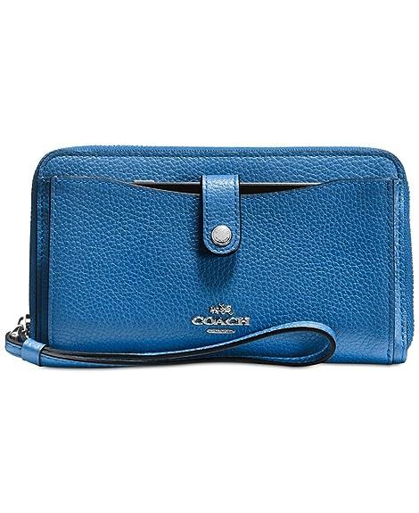 Coach - Cartera para mujer mujer azul Silver/Lapis: Amazon.es: Zapatos y complementos