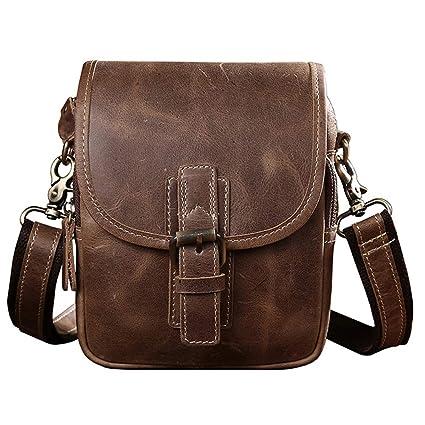 a0b68d0ed005 Amazon.com: Speciclny Motorcycle Bag Men Messenger Bag Full Grain ...