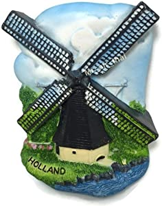Wind Mill, HOLLAND SOUVENIR RESIN 3D FRIDGE MAGNET SOUVENIR TOURIST GIFT 042
