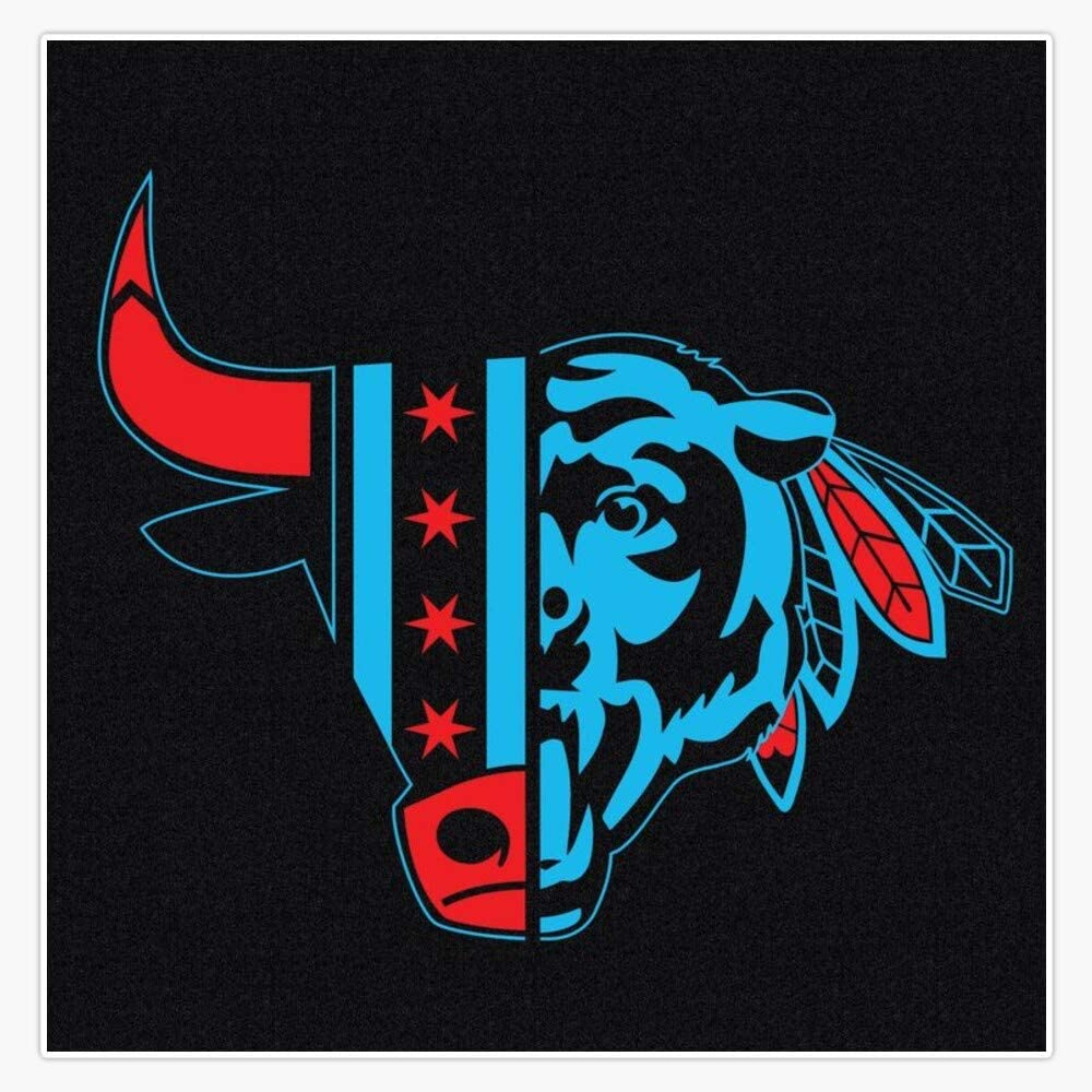 "EMC Graphics Chicago Bull/Blackhawk/Bear Sticker Decal Vinyl Bumper Sticker Decal Waterproof 5"""