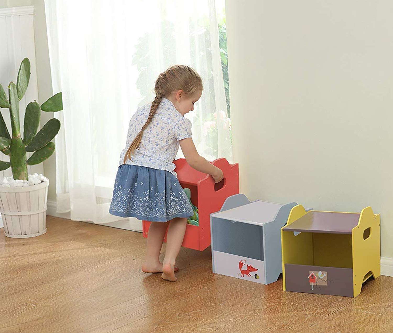 TTaceb Baule portagiochi Bambini portagiochi Bambini scatole di immagazzinaggio in Tessuto scatole per cubetti di stoccaggio 3