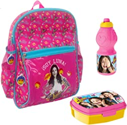 Backpack Soy Luna Disney 33cm Wow School Bag Luchbox Bottle Bundle