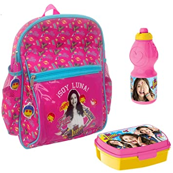 Amazon.com | Backpack Soy Luna Disney 33cm Wow School Bag Luchbox Bottle Bundle | Kids Backpacks