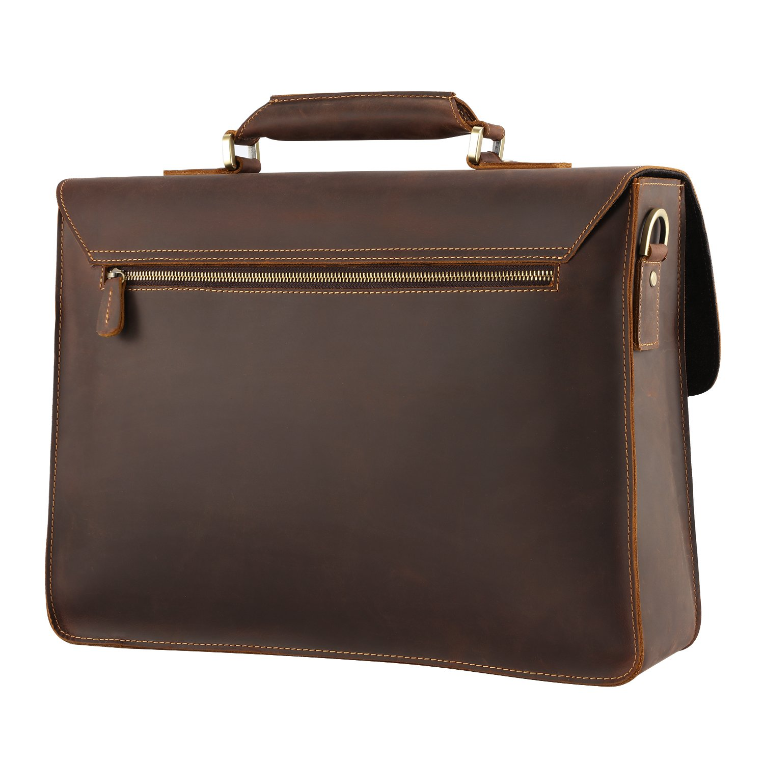ef49c86b2d1c Amazon.com  Kattee Real Leather Shoulder Briefcase