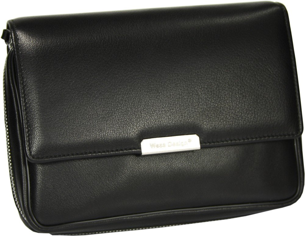 Martin Wess Germany ''Onyx'' Ultra Fine Nappa Leather 4 Pipe Bag Case