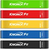 Kivorich Fit Resistance Loop Bands, Exercise Workout Bands Set of 5 for Legs Butt Stretching Physical Therapy Strength…