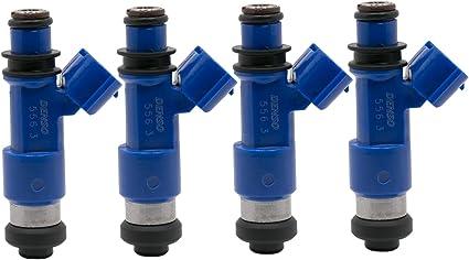 4x Dark Blue 565cc Fuel Injector For Denso Subaru WRX STI 16611-AA720 2.5L