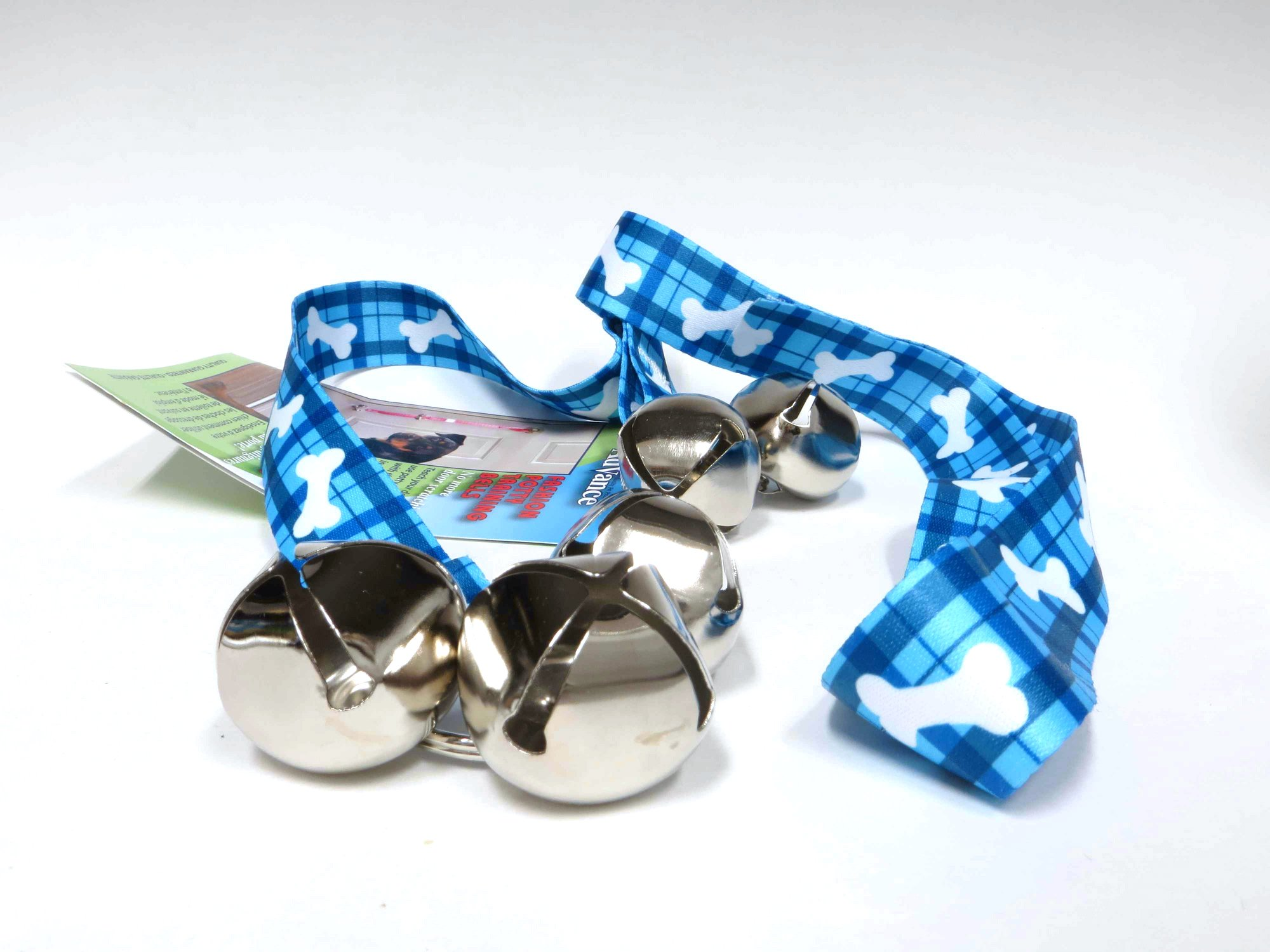 NEW Product! Coastal Pet Advance Potty Training Dog Bell Blue Plaid with Bones