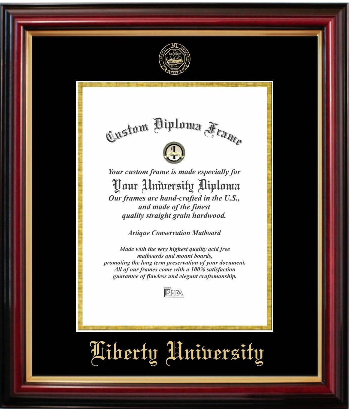 Liberty University Affordable Diploma Frame (14 X 17) Vertical by Diploma Frame Deals