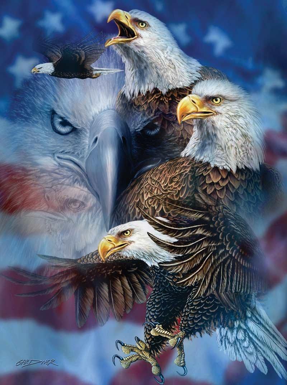 Patriotic Patriotic Patriotic Eagles a 1000-Piece Jigsaw Puzzle by Sunsout Inc. by SunsOut 2be827