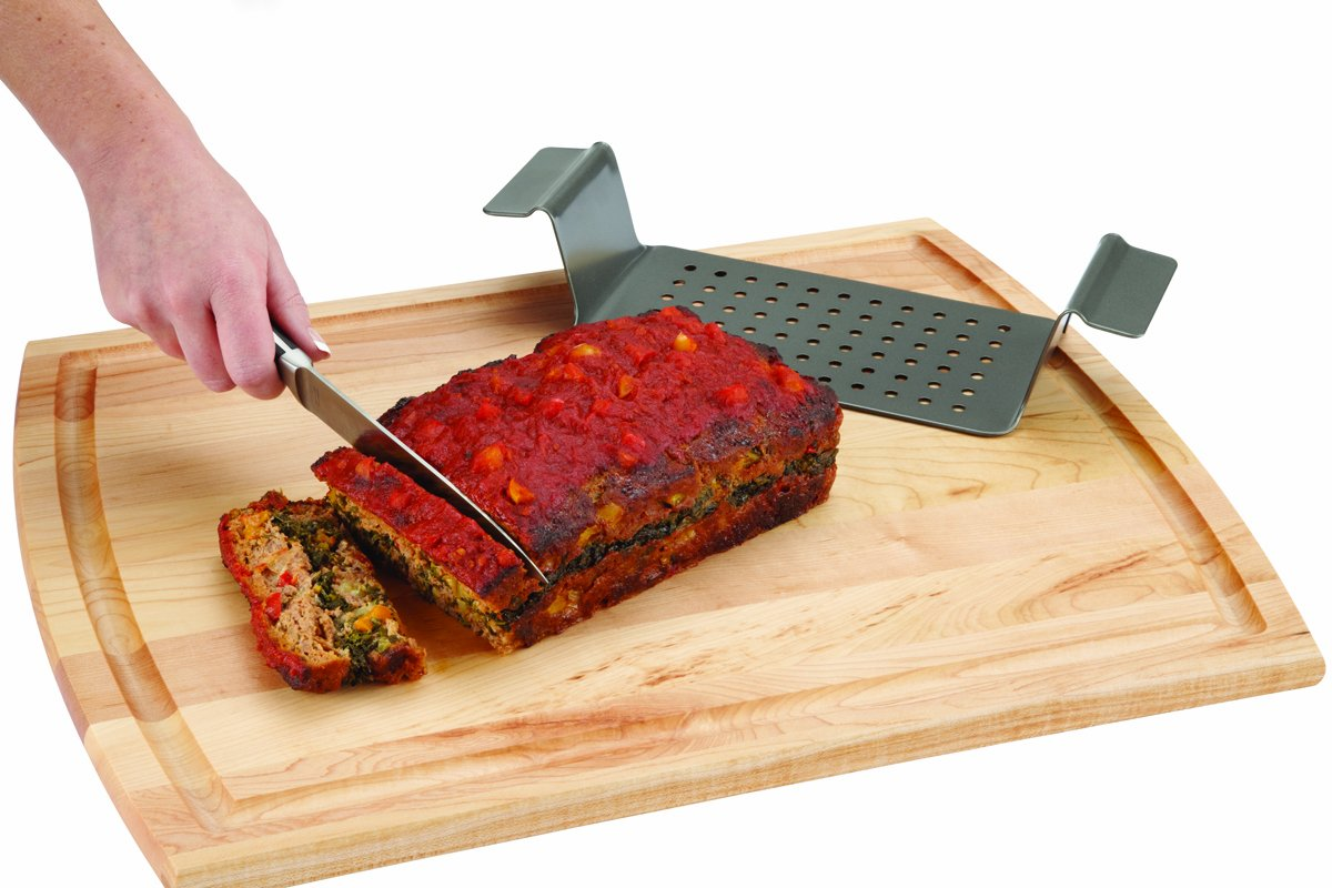 Chicago Metallic Professional Non-Stick 2-Piece Healthy Meatloaf Set, 12.25-Inch-by-5.75-Inch by Chicago Metallic (Image #5)