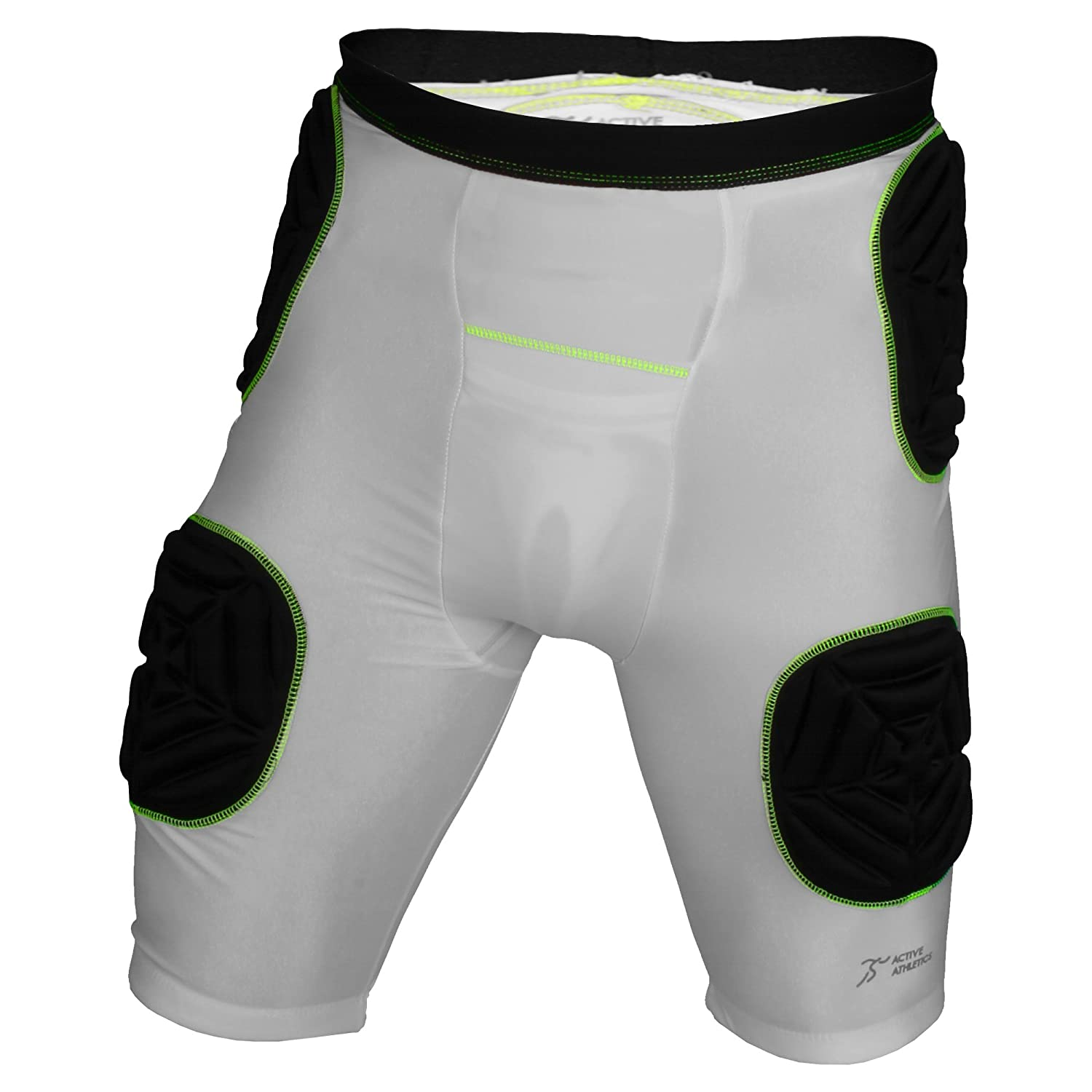 Active Athletics American Football 5 Pad Unterhose - Weiß