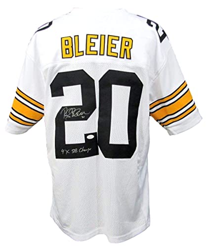 59307911c Rocky Bleier Pittsburgh Steelers Autographed Signed Xl White Jersey - JSA  Authentic