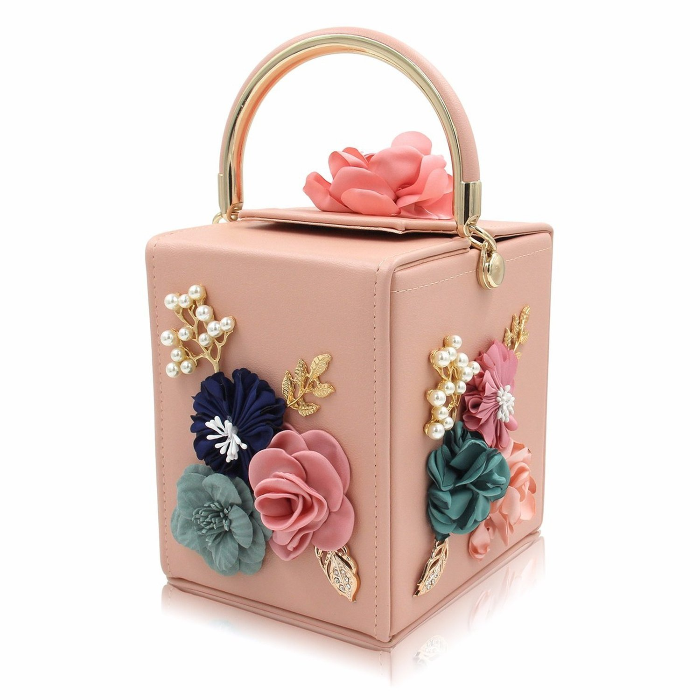 71e001627261 Good-memories handbag Women Evening Bag Ladies Flower Wedding Clutches  Female Pink Black Clutch Purse