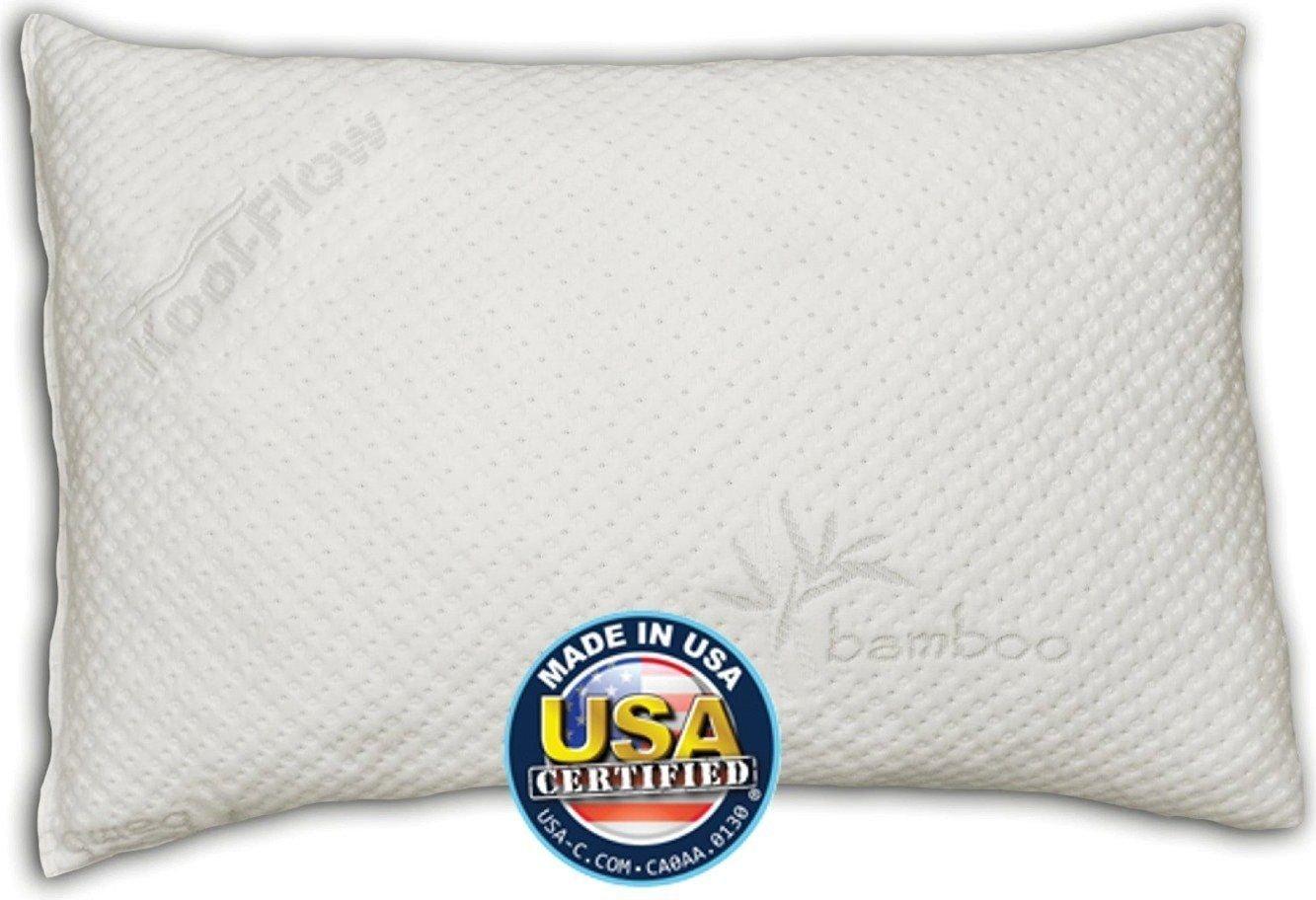 G & Gonline snuggle-pedic Shreddedメモリーフォーム枕ultra-luxuryカバー、クイーン B07CHHMSDR