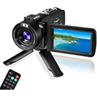 Digital Video Camera YouTube Vlogging Camcorder, HD 1080P 30FPS 24MP 16X Digital Zoom 3.0 Inch 270 Degree Rotation LCD…